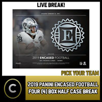 2019 PANINI ENCASED FOOTBALL 4 BOX (HALF CASE) BREAK #F483 - PICK YOUR TEAM