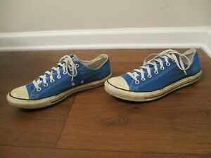 Used Sz 12 Fit Like 12.5-13 Converse Chuck Taylor All Star Low Shoes Blue White