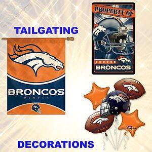 Buy 1 Get 1 50% Off (Add 2 to cart) NFL Denver Broncos Tailgating & Decorations
