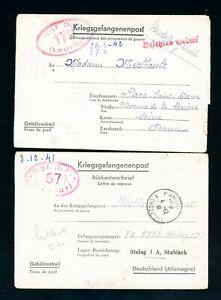 1942  German Prisoner of War Camp Mail 2 Items    (S707)