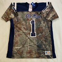 Ole Miss Rebels Football Jersey Realtree Camo Men's Size Large Made in USA