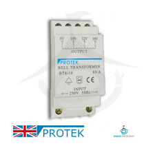 PROTEK Bell Transformer 16V For Nest & Ring Door Bell Compatible Din Rail Mount