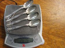 Antique Lot of 4 Gorham Sterling Silver Chantilly Tea Spoons W/ Monogram Pat 95