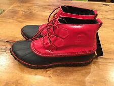 Womens Sorel Out N About Rain Boots - NWT Red Size 8