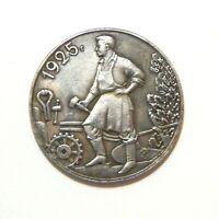 ONE RUBLE 1925 ***SOVIET UNION***USSR***LENIN***STALIN*** EXONUMIA SILVERED COIN