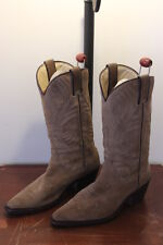 Tony Mora 3389 Distressed Tan Suede Leather Western Boots Women Sz EU 39/US9-9.5
