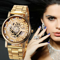 Luxury Women Mechanical Hollow out  Bracelet Watches Stainless Steel Wrist Watch