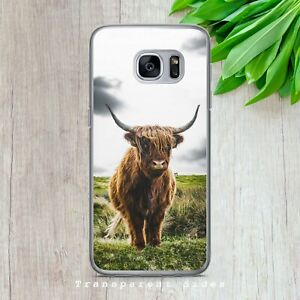 HIGHLAND COW SCOTTISH MOO GIFT HARD PHONE CASE COVER FOR IPHONE/SAMSUNG/HUAWEI