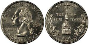 2000-P Maryland Statehood Quarter 25C Uncirculated Coin Philadelphia mint 013