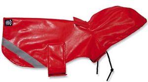 NWT RED  Reflective Slicker Dog Raincoat Coat Jacket Petrageous LARGE