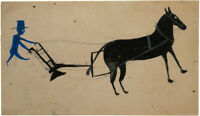 Horse Plow : Bill Traylor : c. 1930s : Archival Quality Art Print