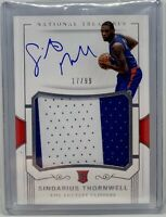 2017-18 National Treasures Sindarius Thornwell Rookie Jersey Patch Auto RPA /99