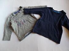 JEAN BOURGET + ESPRIT Zwei LG Shirts grau + dunkelblau Gr.80/86