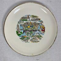 Vintage 1970's Era PITTSBURGH Souvenir Collector Plate