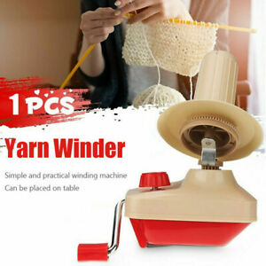 Hand Operated Yarn String Winder Thread Fiber Wool Ball Skein Swift Knit Machine