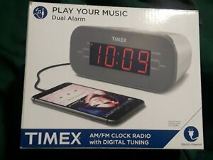 Timex AM/FM Dual Alarm AM/FM Clock Radio With Digital Tuning