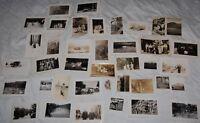 Vintage Family Photograph Photo Lot of 39 Black White 40's Portrait Children