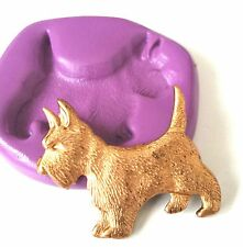 SCOTTIE Dog Silicone Mould Sugarpaste Cake Decorate Fimo Icing Polymer Clay