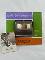 New Vintage Mid-Century Modern WestClox Weather-Mate Indoor Thermometer