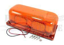 Amber Permanent Mount Flashing Mini LED Light Bar Truck Trailer Hazard Alert