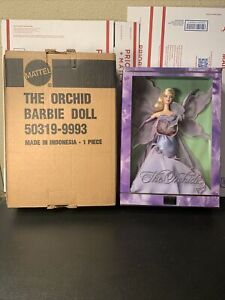 2000 THE ORCHID BARBIE FLOWERS IN FASHION LIMITED EDITION - NRFB With Shipper
