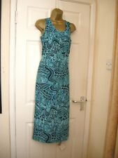 10 VERY BLUE MIDI DRESS SHIFT RETRO 60S 70'S LIGHTWEIGHT SUMMER HOLIDAYS NEW