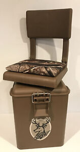 NEW Hunting / Fishing Stool Swivel Chair Seat w/ Storage Bucket Cooler MT. DEW