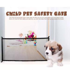 Dog Gate Ingenious Mesh Dog Fence For Indoor and Outdoor Safe Pet Dog gate Safet