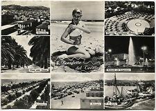 SAN BENEDETTO DEL TRONTO (ASCOLI), 7 VEDUTINE + RAGAZZA IN BIKINI, 1964     m