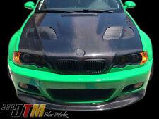 BMW E46 M3 00-06 GTR FLOSS. Style Vented CFRP Hood Carbon CFRP