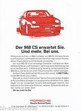 Porsche 968 CS folleto 1992 1 bl car brochure auto automóviles Alemania auto deportivo