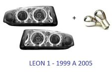 2 FEUX FEU PHARES AVANT SEAT LEON 1 1.4 1.6 1.8 1.9 16V 20V T TDI 99-05 CUPRA