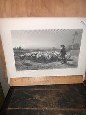 The Shepherd Engraving Art Print Rosa Bonheur
