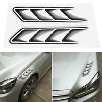 2pcs Fake Car Fender Side Vents 3D Sticker Decal Emblem Tuning Auto Decor Best