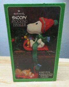 Peanuts Snoopy Woodstock Christmas Stocking Hanger Holder Vintage 1965 Hallmark