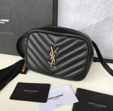 YSL Lou Belt Bag in Quilted Leather Black