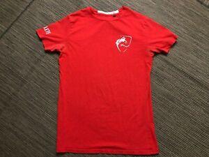 Alphalete Mens Medium Tee T Shirt Red Cotton Spandex