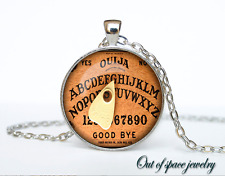 Halloween Cothic Ouija Board Glass Cabochon Tibet silver pendant chain necklace