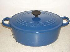 Le Creuset Ghisa 25 cm Blu Ovale Pentola Padella in ottime condizioni