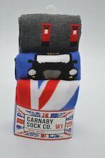New Carnaby Sock Co. W1 British Union Jack Socks 3-Pack London England Rare