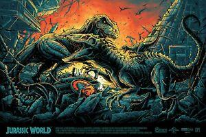 Jurassic World Dan Mumford Screen Print Hand Numbered Dinosaur Christmas