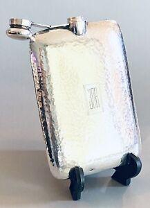 """Vintage R. Blackinton Co. #9718 Sterling Silver Hand Hammered Flask 7"""""""