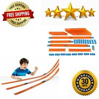 Kids Car Mega Track Toy Hot Wheels 40 Feet Stunt Track Builder Pack Boys Playset