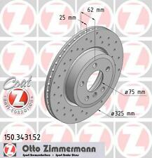 ZIMMERMANN 150.3431.52 FRONT SPORT BRAKE DISCS PAIR (COAT Z)