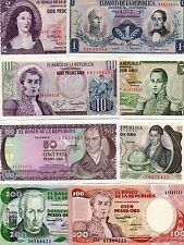 Colombia South America Set of 8 Unc