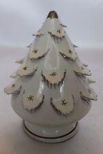 Vintage Mcm Italy White Gold Ceramic Candle Votive Xmas Christmas Tree 3 Avail