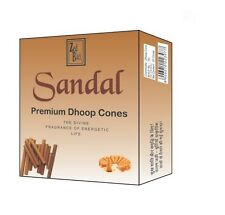 60gm Sandal Incense Cones Sticks Pure NaturaI Dhoop India Religious Temple Pooja