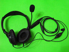BIG Headset Headphone With Mic For Motorola GP340 GP328 GP380  HT1250 VOX & PTT