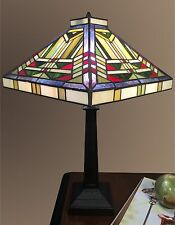 Tiffany Style Stained Glass Table Lamp Desk Art Deco Mission Craftsman Victorian
