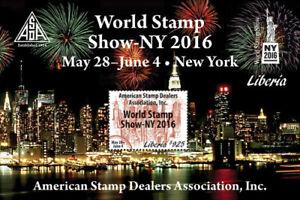 Liberia 2016 -  World Stamp Show NY 2016 ASDA - Souvenir Sheet - MNH